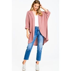 NWT Hooded Duster Cardigan